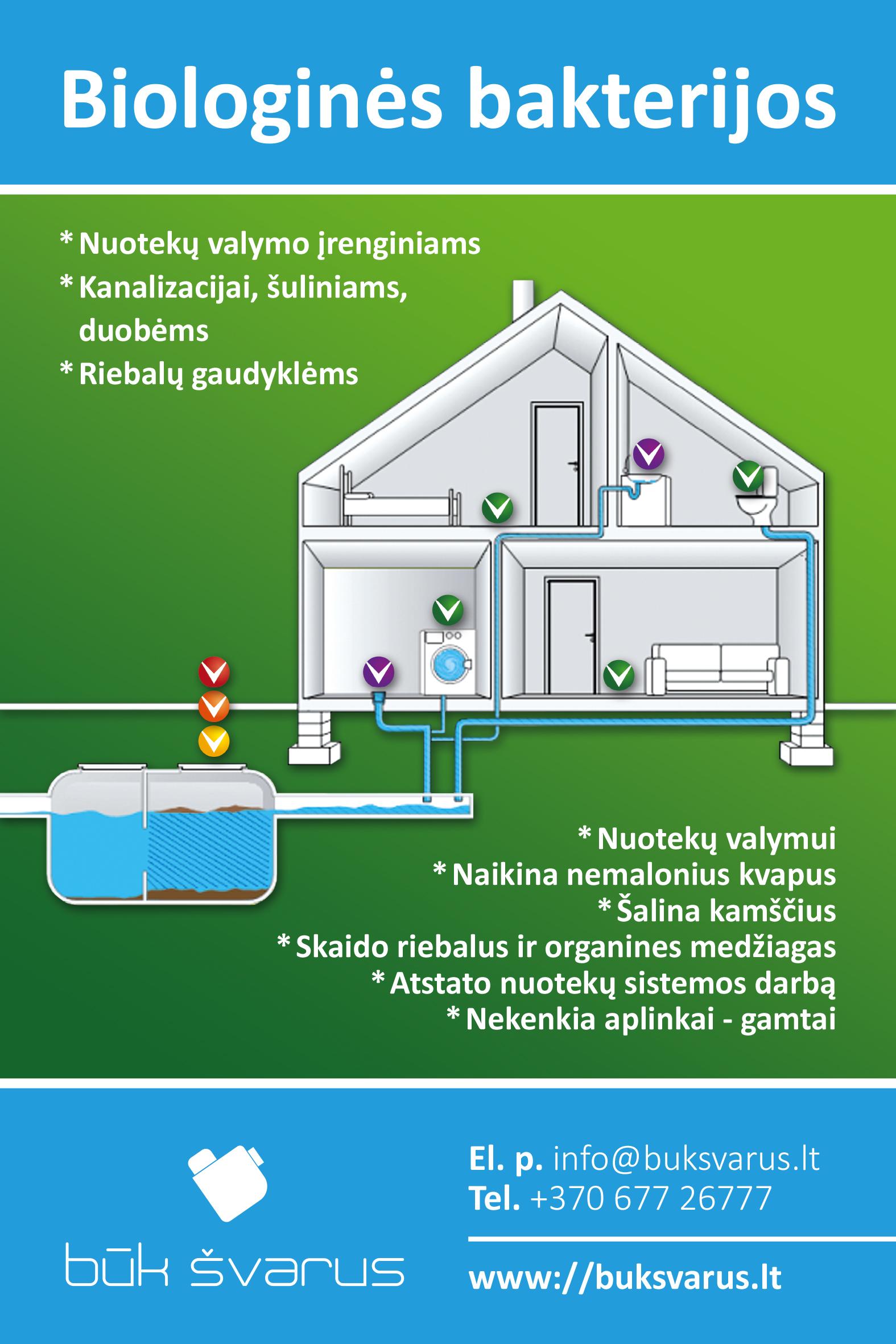 vietinės kanalizacijos priežiūra